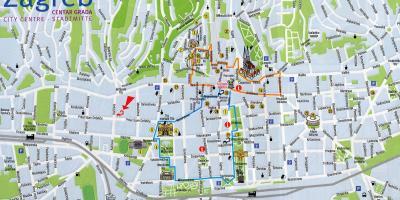 מודיעין קרואטיה מפה - מפות קרואטיה (דרום אירופה - אירופה) JZ-28