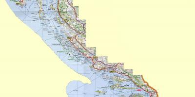 משהו רציני קרואטיה מפה - מפות קרואטיה (דרום אירופה - אירופה) JW-88