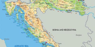 עדכני קרואטיה מפה - מפות קרואטיה (דרום אירופה - אירופה) JA-52