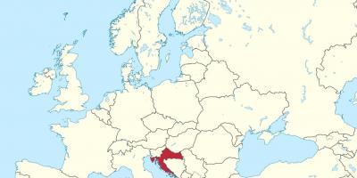 רק החוצה קרואטיה מפה - מפות קרואטיה (דרום אירופה - אירופה) SE-13